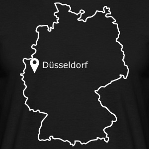 Place to be: Dusseldorf - Mannen T-shirt