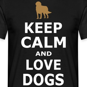 Keep Calm and love dogs - Enkel - T-shirt herr