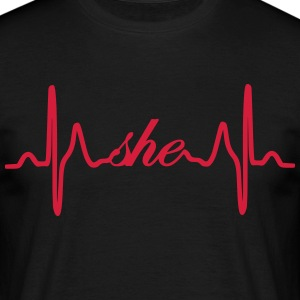 Du EKG Heartbeat - T-skjorte for menn