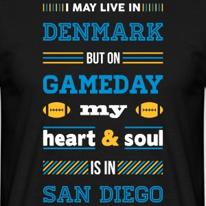 I may live in Denmark... (San Diego edition) - Herre-T-shirt
