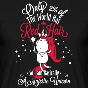 red hair unicorn - Men's T-Shirt