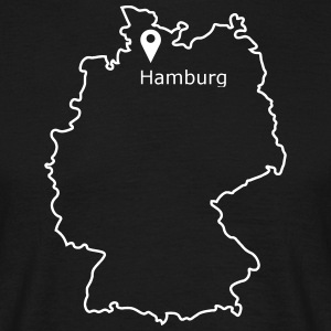 Place to be: Hamburg - Mannen T-shirt
