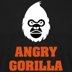 angry_gorilla_white - Mannen T-shirt