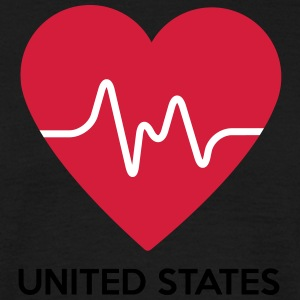 Heart United States of America - Men's T-Shirt