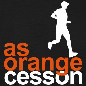 Logo-AS-Orange-White - T-shirt herr