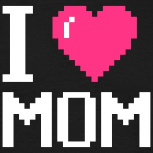 I Love My Mom Pixel Mothers day - muttertag - Männer T-Shirt