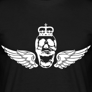 Skull with wings and crown - Men's T-Shirt