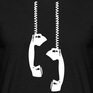Vintage phone talk Retro Handset Call antique - Men's T-Shirt