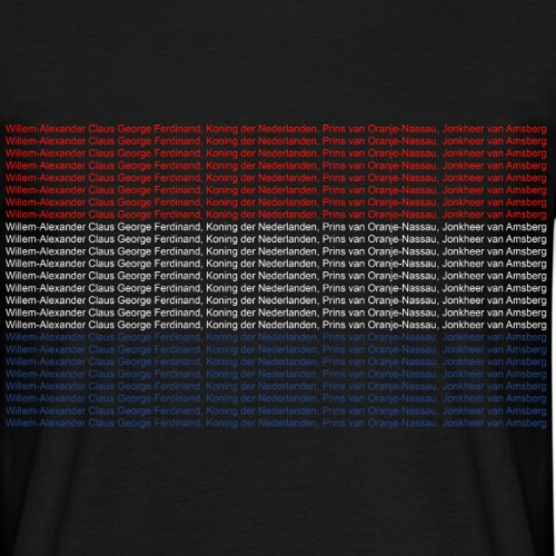 Willem is mijn naam - Mannen T-shirt