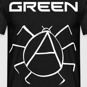 Green Anarchy Beetle - Men's T-Shirt