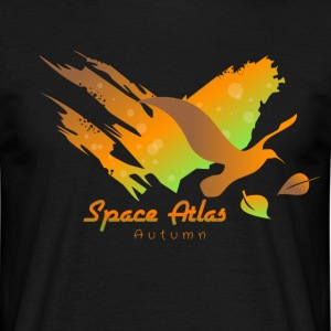 Space Atlas Long Shirt Tee Autumn Leaves - Men's T-Shirt