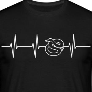 My heart beats for snakes - Men's T-Shirt