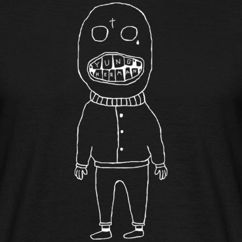 mannetje met tanden inverted - Mannen T-shirt