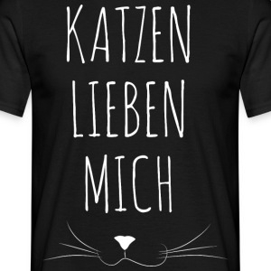 Cat Loves Me - Men's T-Shirt