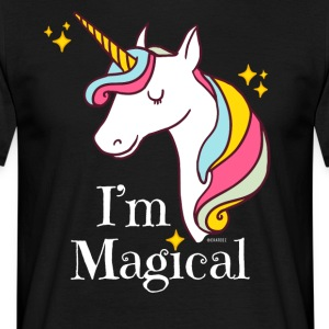 I'm Magical Unicorn T-Shirt in Black - Men's T-Shirt