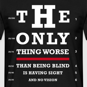 Eye test optics fun Joker sharp humor typo lol bril - Men's T-Shirt