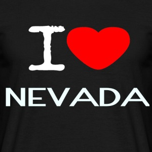 I LOVE NEVADA - T-skjorte for menn