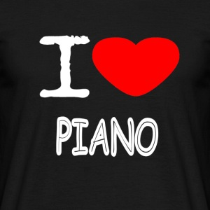 I LOVE PIANO - T-skjorte for menn