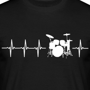 I love drums (drum heartbeat) - Men's T-Shirt