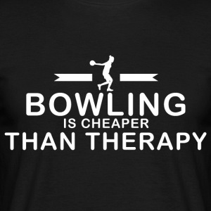 Bowling is goedkoper dan therapie - Mannen T-shirt