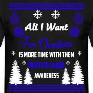Prostate Cancer Awareness All I Want For Christmas - Koszulka męska