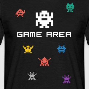 gamearea pixelart video game console pc retro nerd - Mannen T-shirt