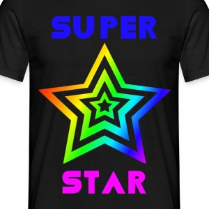 Rainbow Super Star - T-skjorte for menn