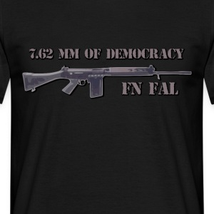 fn fal Fan T-Shirt 7,62 mm der Demokratie - Männer T-Shirt