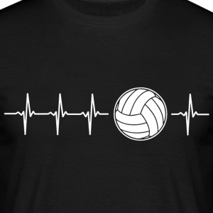 J'aime le volley-ball (volley-ball rythme cardiaque) - T-shirt Homme