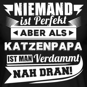 Ingen er perfekt - Cat Dad T-Shirt - Herre-T-shirt
