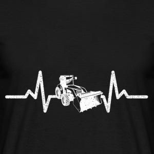 My heart beats driving for excavators! - Men's T-Shirt