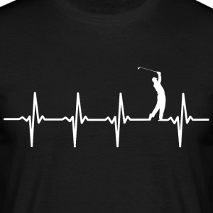 Your heart beats for golf? - Men's T-Shirt