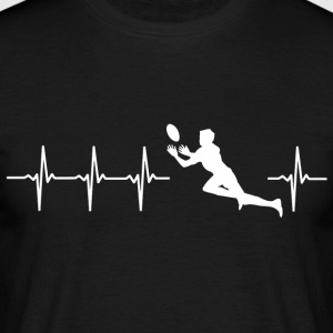 I love rugby (rugby heartbeat) - Men's T-Shirt