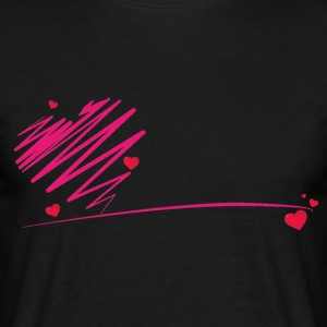 heart scribble - Men's T-Shirt