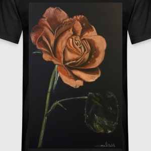 rose rouge - T-shirt Homme