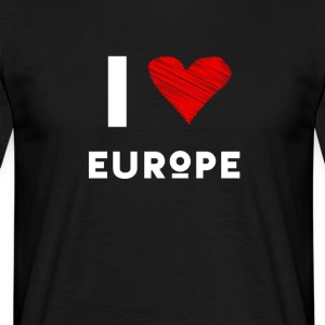 I Love Europe eu Herz rot liebe statement Demo fun - Männer T-Shirt