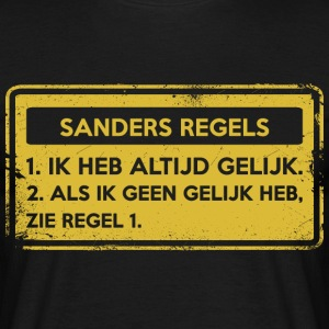 Sanders regler. Original gave. - T-skjorte for menn