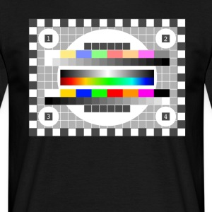 testbild tv, radio, television earlier retro colors - Men's T-Shirt