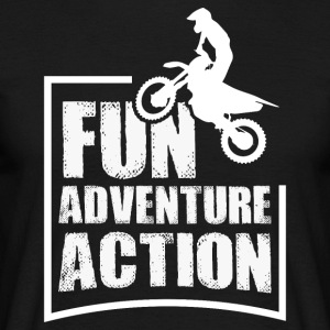 Enduro FUN ADVENTURE ACTION - Mannen T-shirt