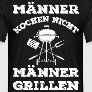 MEN COOK IKKE - MEN BBQ - Herre-T-shirt