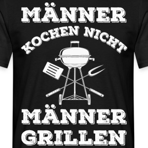 MEN COOK NIET - MEN BBQ - Mannen T-shirt
