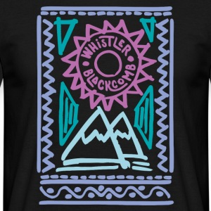 Whistler Blackcomb retro - Mannen T-shirt