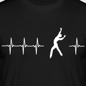 I love figure skating (heartbeat) - Men's T-Shirt