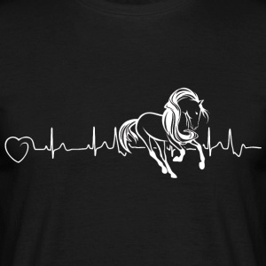 Horses are my heartbeat - Men's T-Shirt