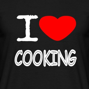 I LOVE COOKING - Men's T-Shirt