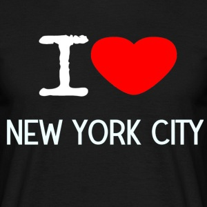 I LOVE NEW YORK CITY - T-skjorte for menn