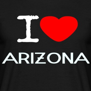 I LOVE ARIZONA - T-skjorte for menn