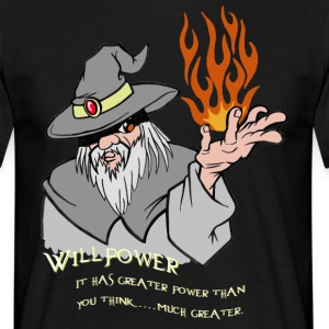 Viljestyrka Wizard Grey / Orange Flame - T-shirt herr