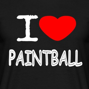 I LOVE PAINTBALL - T-skjorte for menn