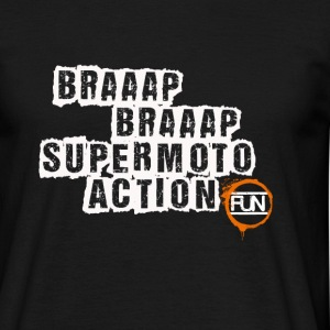 Supermoto action - T-shirt Homme